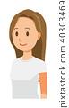 有長的頭髮的少婦指向對角 40303469