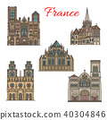 France travel landmarks vector facade buildings 40304846