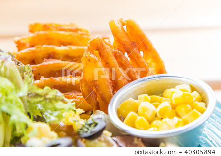 fried potato 40305894