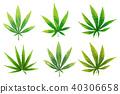 A set of cannabis icons, Marijuana leafs. 40306658