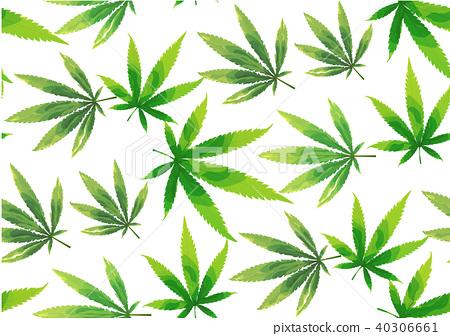 Marijuana leaves seamless vector pattern. - Stock Illustration ...