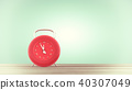 clock red color on table 40307049