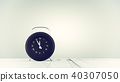 Clock black color on table 40307050