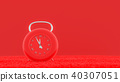 modern clock red color on carpet 40307051
