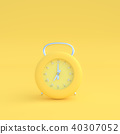 modern clock pastel yellow color 40307052