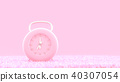 modern clock pink color on carpet 40307054