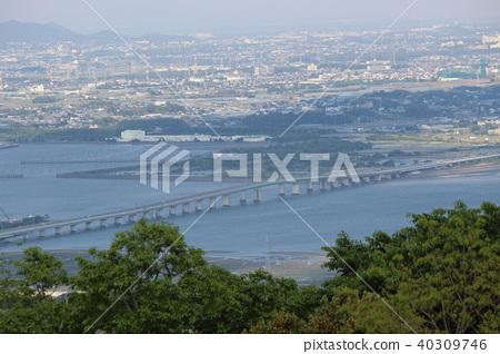 Mikawako Ohashi Toyohashi city from the summit of Mt. Zao in Tahara city, Aichi Prefecture 40309746