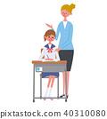 学习英国例证的女学生 40310080