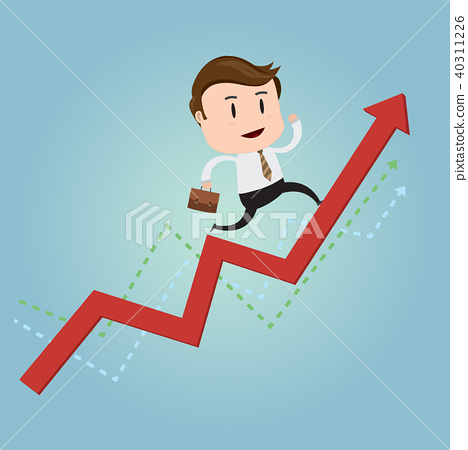 Business concept with climbing on diagram graph 40311226