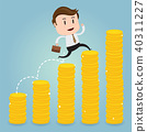 Business concept with climbing on diagram graph 40311227