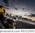 Supersport motorcycle rider 40312093