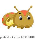 a brown caterpillar cartoon 40313408