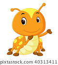 a yellow caterpillar cartoon 40313411