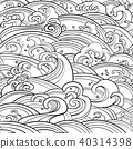 seamless pattern with waves 40314398