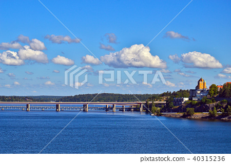 Swedish islands of Stockholm Archipelago in Baltic 40315236