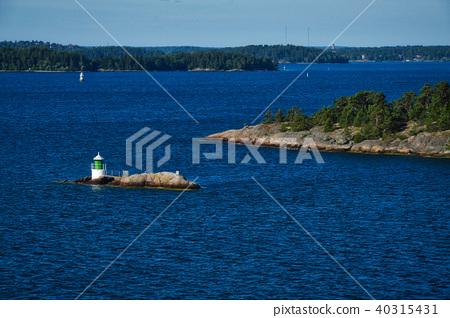 Lighthouse on islet of Stockholm Archipelago 40315431