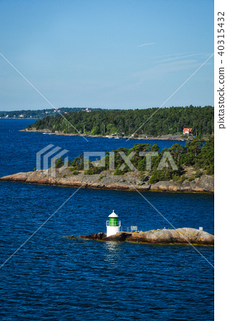 Lighthouse on islet of Stockholm Archipelago 40315432