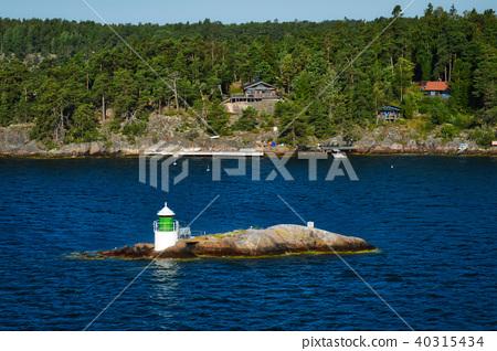 Lighthouse on islet of Stockholm Archipelago 40315434