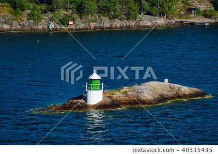 Lighthouse on islet of Stockholm Archipelago 40315435