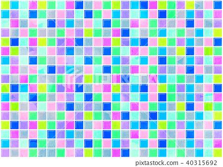 Tile colorful texture - Stock Illustration [40315692] - PIXTA