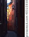 Cobble street in Gamla Stan, Stockholm, Sweden 40315930