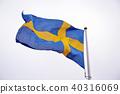 Flag of Sweden in white background 40316069