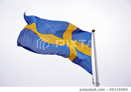 Flag of Sweden in white background 40316069