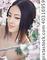 woman asian flowers 40316959