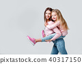 mother, daughter, cheerful 40317150