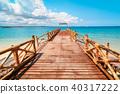 Pier on Prison Island, Zanzibar 40317222
