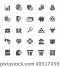 Icon set - money and finance solid icon 40317430