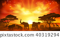 safari, animal, silhouette 40319294