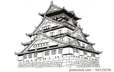 Osaka Castle [Hand-drawn] 40319296
