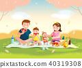 ครอบครัว,ปิกนิก,ดอกซากุระบาน 40319308