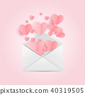 Envelope with Heart Symbol. Love and Feelings Background Design. Vector illustration 40319505