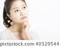 女性肖像系列面部表情 40320544