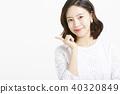 女性肖像系列手標誌 40320849