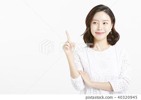 女性肖像系列手標誌 40320945