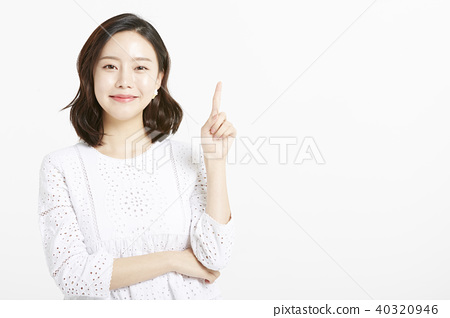 女性肖像系列手標誌 40320946