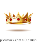 crown, isolated, golden 40321845