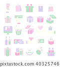 Gift box,Present Icon set,Gift Voucher 40325746