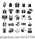 Gift box,Present Icon set,Gift Voucher 40325748