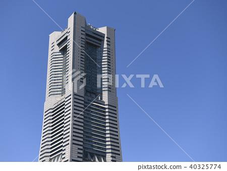 일본 요코하마 도시 풍경 요코하마 랜드 마크 타워 40325774
