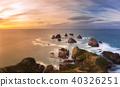 Panorama Nugget Rock, New Zealand. 40326251