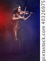 performer, stage, violin 40326975