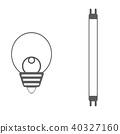 형광등 전구 일러스트 아이콘 40327160
