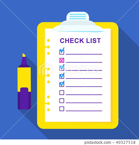 Checklist on a sheet of paper 40327518