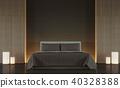 Modern brown bedroom minimal style 3d render 40328388