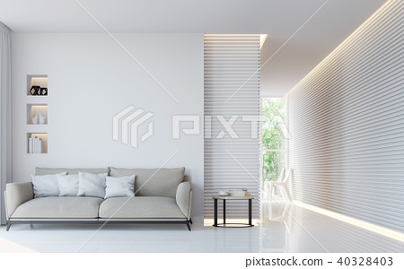Modern white living room interior 3d render 40328403