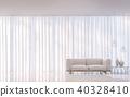 Modern white living room minimal style 3D render 40328410